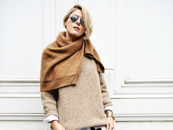 报码:几种快速上手的纯色毛衣穿法